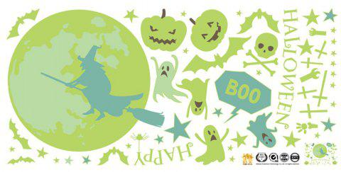 Halloween Wall Stickers Luminous Removeable Sticker For Kids Room - multicolor 2PCS