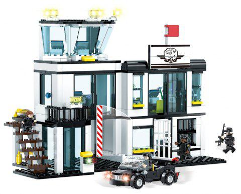 Fashsional Cayi1516 Small Particles Building Blocks Intelligent Toys - JET BLACK 1PC