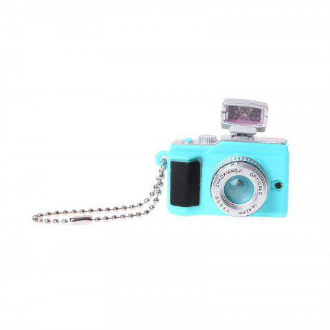 Creative Camera LED Keychains with Sound flashlight Key Ring - TRON BLUE