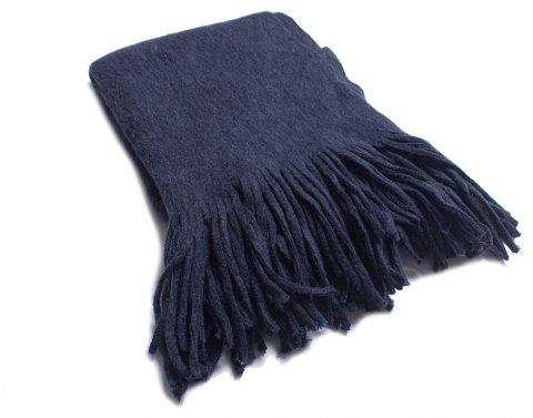 A Variety of Long Scarves with Tassels in Color - CARBON GRAY