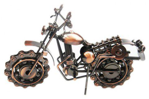 Iron Art Decoration Motorcycle Model - COFFEE