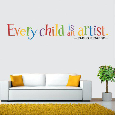 Inspirational Motto PVC Wall Sticker For Home Decoration Removable Decals - multicolor