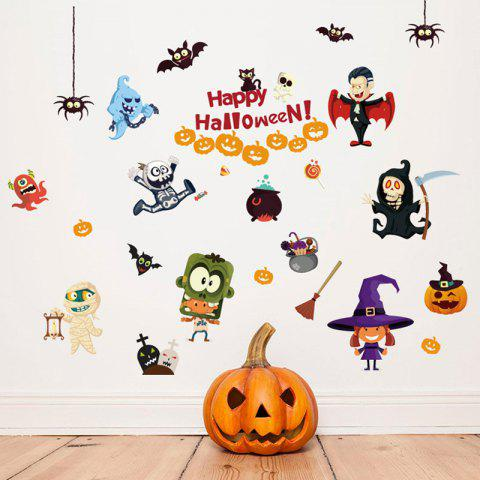 QBS10096 Happy Halloween Sticker de décoration de salle de bricolage - multicolor