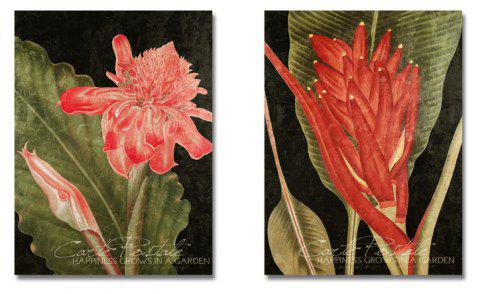 DYC 2PCS Beautiful Plant Flowers Print Art - multicolor