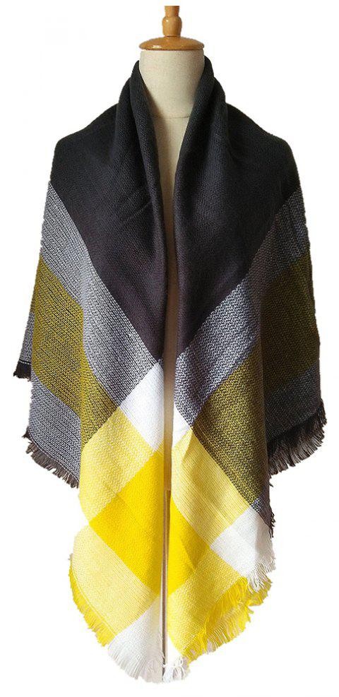 Beautiful Soft Lady'S Square Scarf - YELLOW