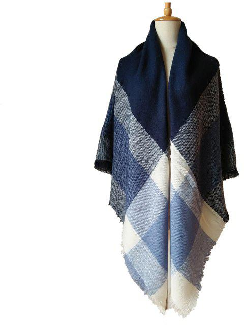Beautiful Soft Lady'S Square Scarf - CADETBLUE