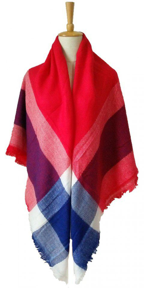 Beautiful Soft Lady'S Square Scarf - RED
