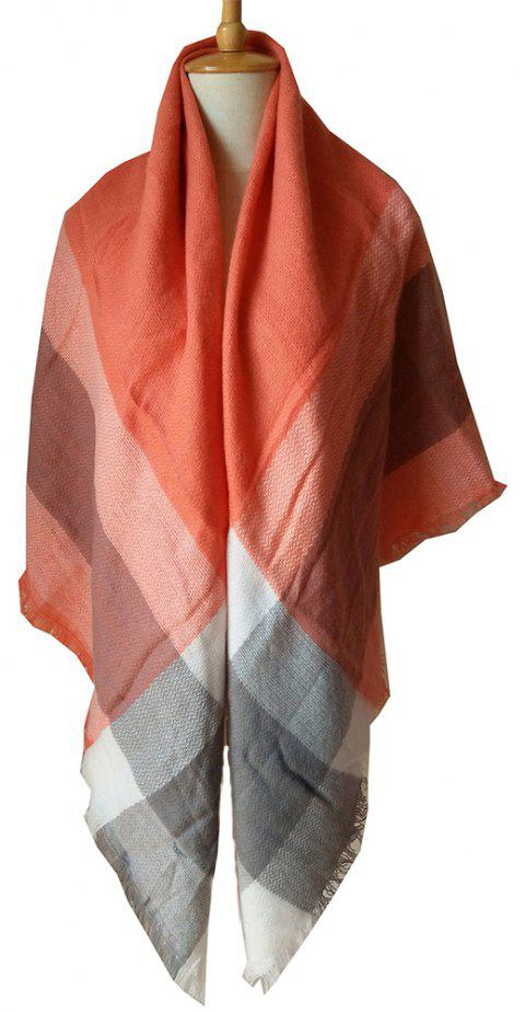 Beautiful Soft Lady'S Square Scarf - APRICOT