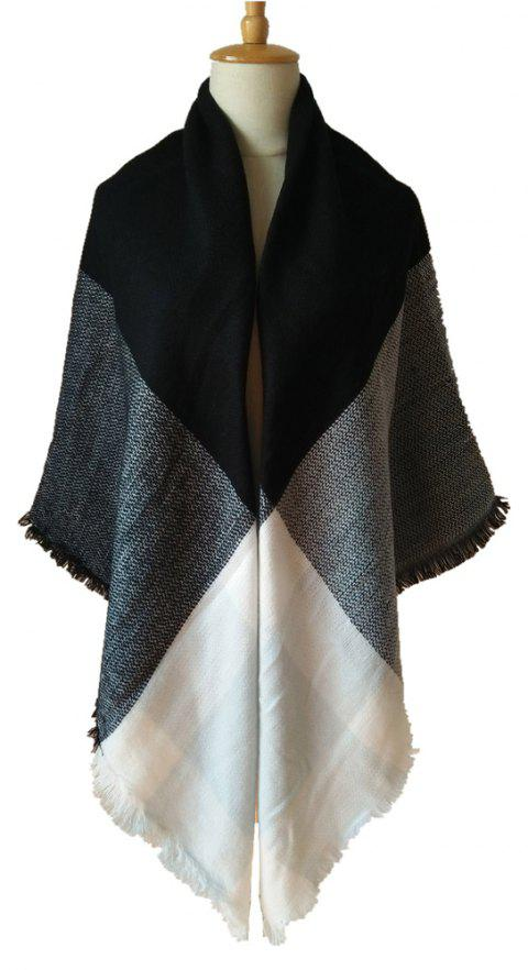 Beautiful Soft Lady'S Square Scarf - PASTEL BLUE