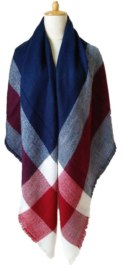 Beautiful Soft Lady'S Square Scarf - BEAN RED