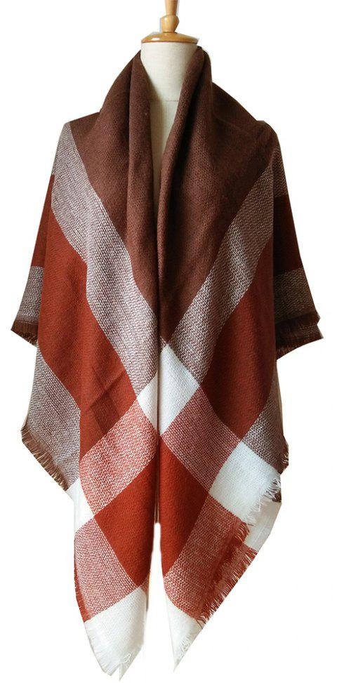 Beautiful Soft Lady'S Square Scarf - RUST