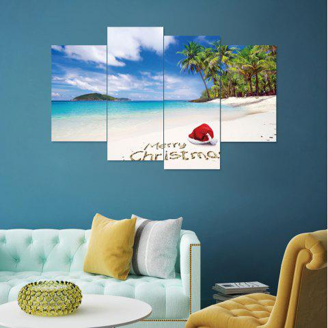 Merry Christmas Removable PVC Wall Sticker - multicolor