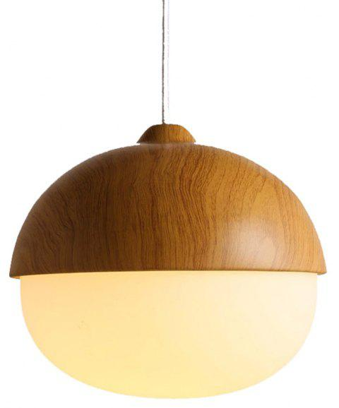 Nordic Pendant Light Grain Iron White Glass Lampshade Restaurant Living lights - LIGHT BROWN 110-220V