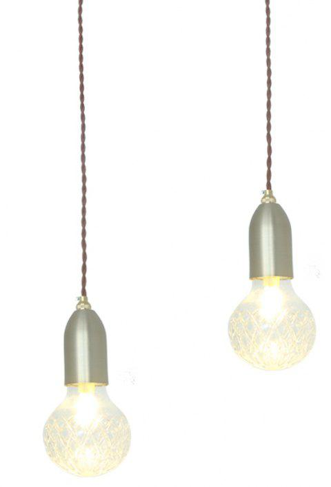 LED G9 Pendant Light Brown Gold Color for Coffee Bar Dinning Room 220V - DARK GRAY 2700K-3000K