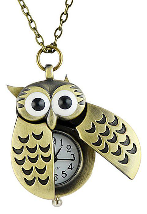 Fashion Cute Alloy Bird Wing Workable Pocket Watch - multicolor