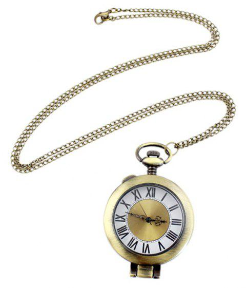 Elegant Cute Number Pendant Pocket Watch with Metal Long Chain - multicolor