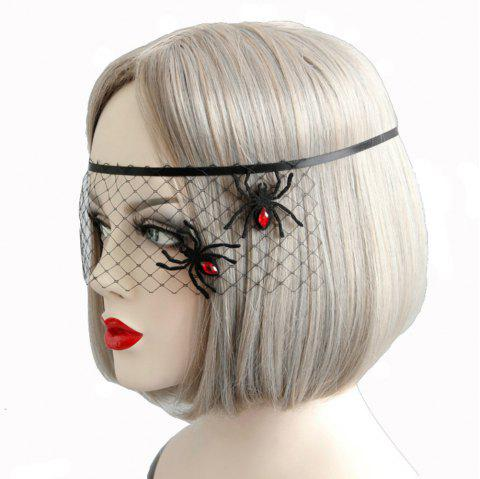 Spider Decoration Mask Face Veil Accessories for Women - BLACK