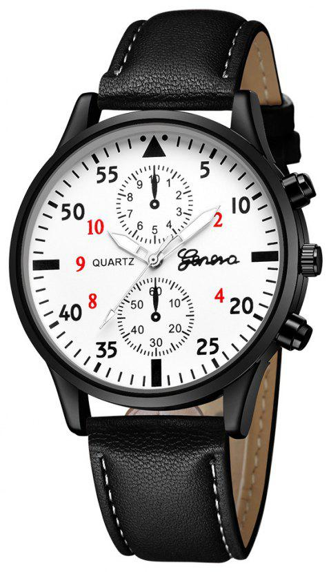 GENEVA Men Casual Fashion Strap Quartz Watch - multicolor J