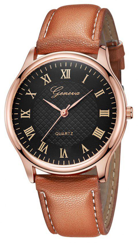 Fashion Casual Neutral Ultra-Thin Quartz Watch - multicolor C