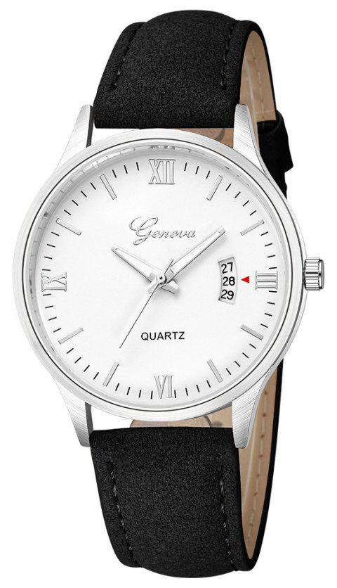GENEVA Men Fashion Simple Casual Business with Calendar Strap Quartz Watch - multicolor K