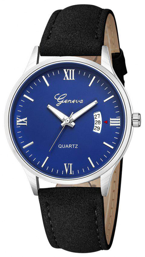 GENEVA Men Fashion Simple Casual Business with Calendar Strap Quartz Watch - multicolor M