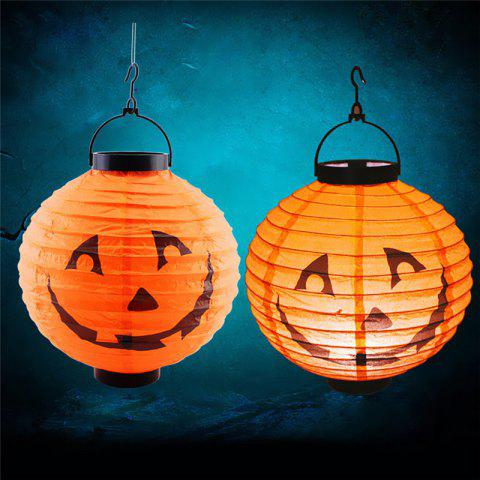 Halloween Pumpkin Lantern Indoor Outdoor Holiday Party Decor - ORANGE