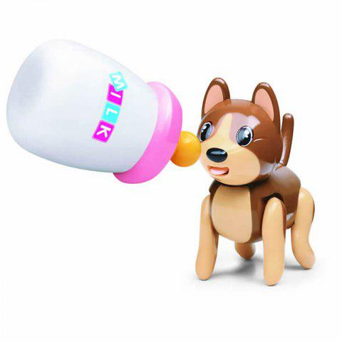 Baby Sucking Pet Cat Dog Tongue Stick Out Drink Milk Bottle Children Puzzle Earl - BROWN BEAR