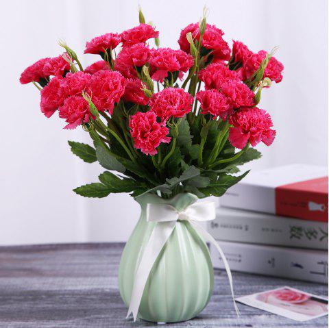Carnation Orchid Silk Home Living Room Decoration Artificial Flower - RED