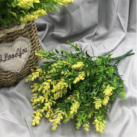 A Bouquet of 5 Heads DIY Plant Accessories Home Decor Artificial Flower - YELLOW