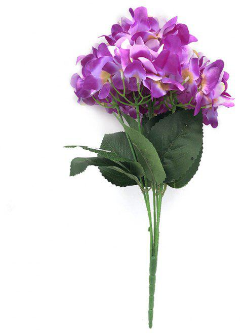 6HEADS Big Hydrangea Branch of Artificial Flowers - PURPLE