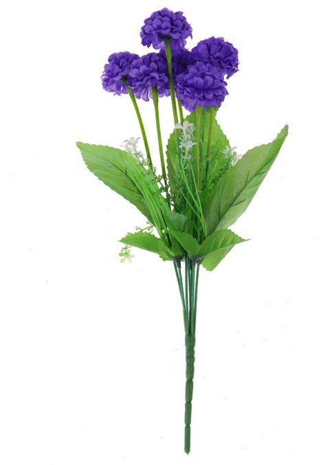 Small Hydrangea Silk Home Living Room Decoration Artificial Flower - PURPLE SAGE BUSH