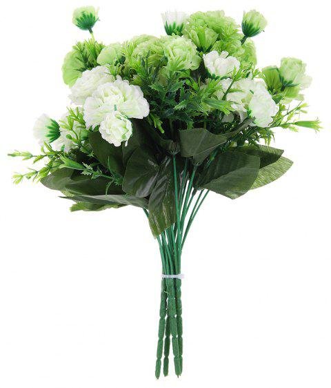 Un bouquet de 6 têtes Eustoma Silk Home Decor fleur artificielle - Vert de Salade