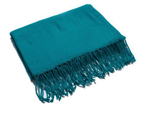 Soft and Comfortable Women's Single Scarf - PEACOCK BLUE