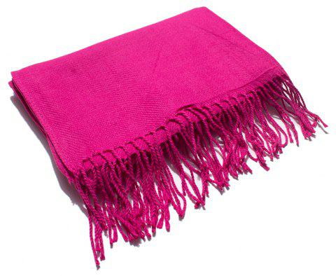 Soft and Comfortable Women's Single Scarf - ROSE RED