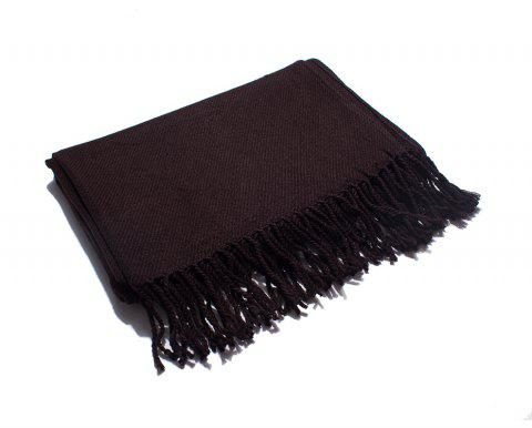 Soft and Comfortable Women's Single Scarf - DEEP BROWN