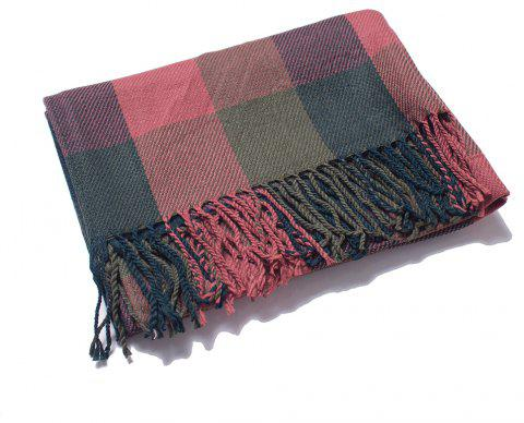 Soft Comfortable Lady'S Scarf with  Small Lattice - multicolor B