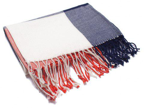 Soft Comfortable Lady'S Scarf with  Small Lattice - multicolor D