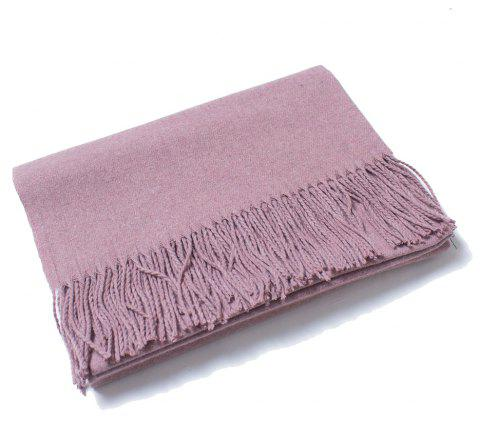 Lovers' Single Color Wool Warm Scarf - LILAC