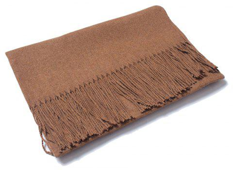 Lovers' Single Color Wool Warm Scarf - CARAMEL