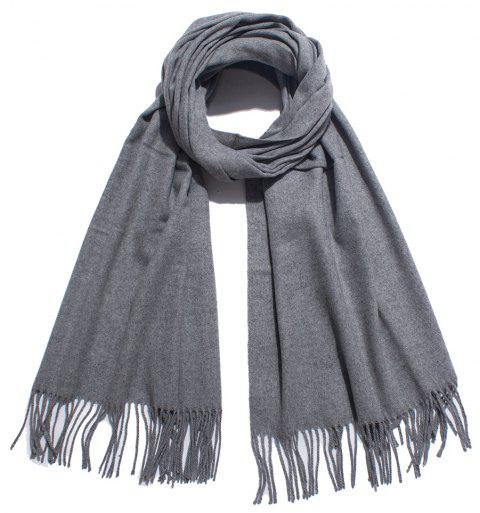 Lovers' Single Color Wool Warm Scarf - ASH GRAY