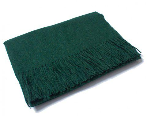 Lovers' Single Color Wool Warm Scarf - DARK FOREST GREEN