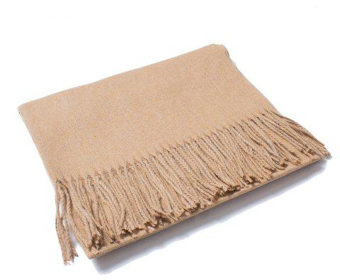 Lovers' Single Color Wool Warm Scarf - CAMEL BROWN
