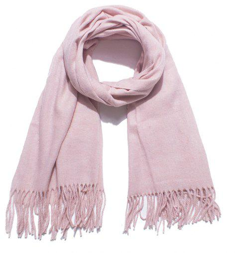 Lovers' Single Color Wool Warm Scarf - LIGHT PINK