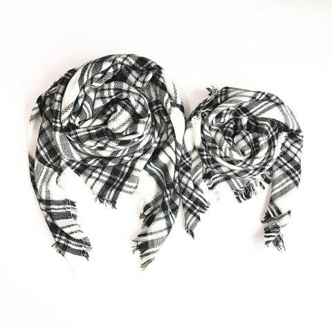 The Soft Parent-Child Scarf - WHITE
