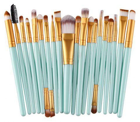 20PCS Professional Makeup Brushes Set Powder Foundation Eyeshadow Tool - LIGHT CYAN