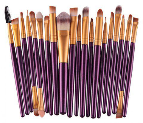 20PCS Professional Makeup Brushes Set Powder Foundation Eyeshadow Tool - PURPLE IRIS