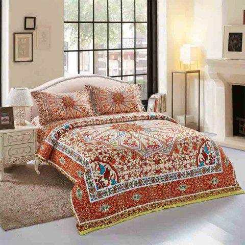 Simple Bohemian Style Single / Double 2.0m Bedding Set - multicolor E 2.0M