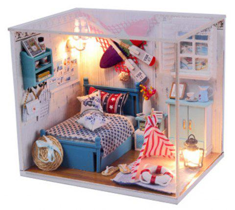 Handmade Furniture Doll Houses Miniature Wooden - multicolor
