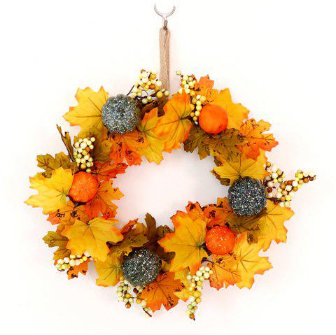 Home Storefront Simulates Pumpkin Maple Leaves Garland Hanging Drop - multicolor A 30*30*10CM