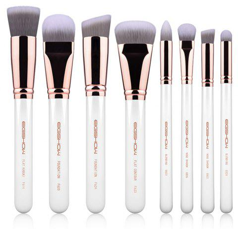 8 Pcs Sculpt And Blend Brush KIit Light Gun Black Rose Gold Bright Silver - ROSE GOLD
